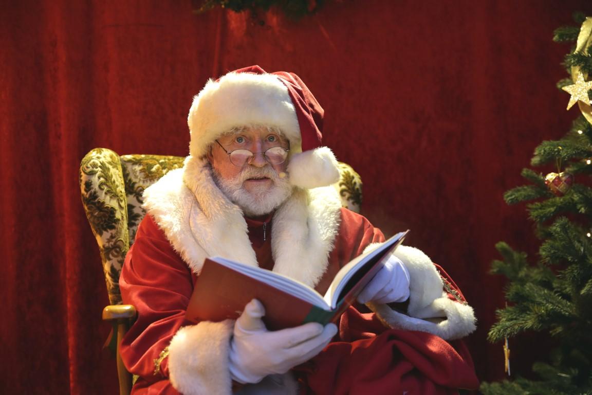 Täglicher Besuch beim Weihnachtsmann